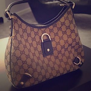 Gucci Brown GG canvas Abbey Hobo